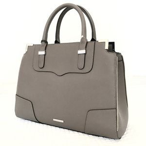 Authentic Rebecca Minkoff leather satchel graphite